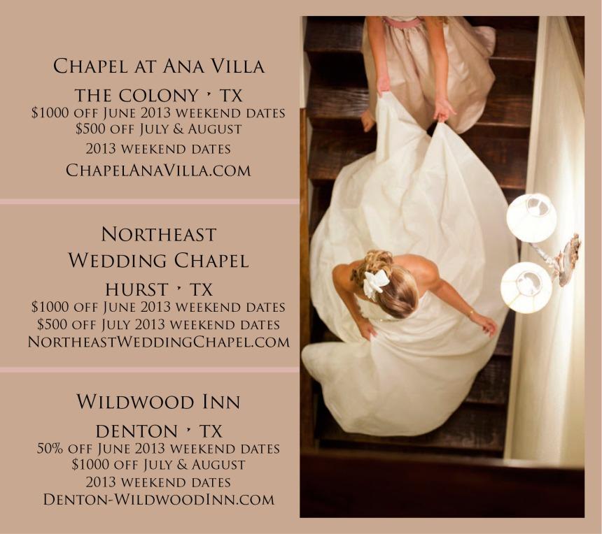 Walters Wedding Estates promotions