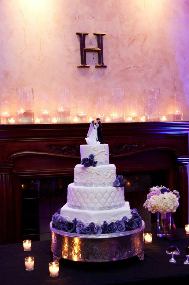 Bride's Cake and Fireplace Mantel