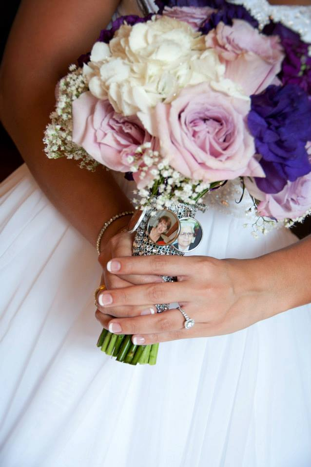Bridal Bouquet with Family Pendants
