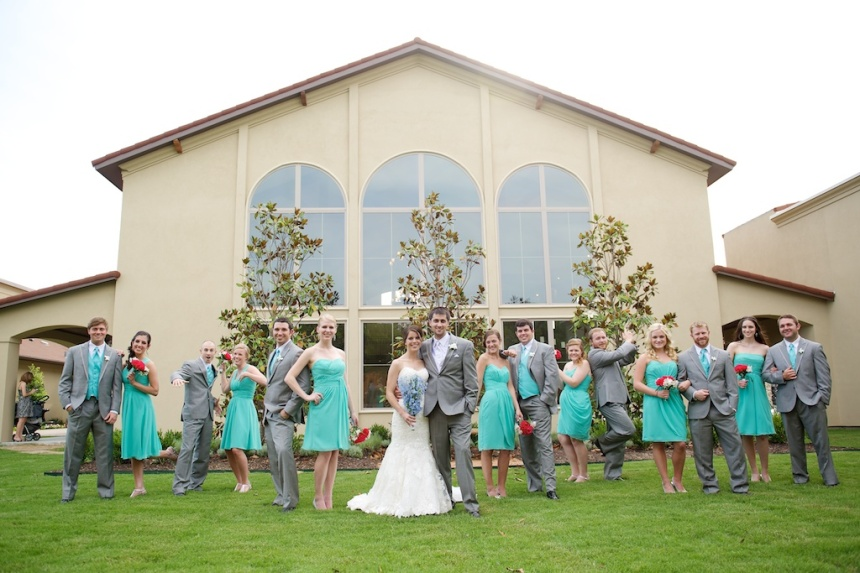 Bridal Party at Chapel at Ana Villa