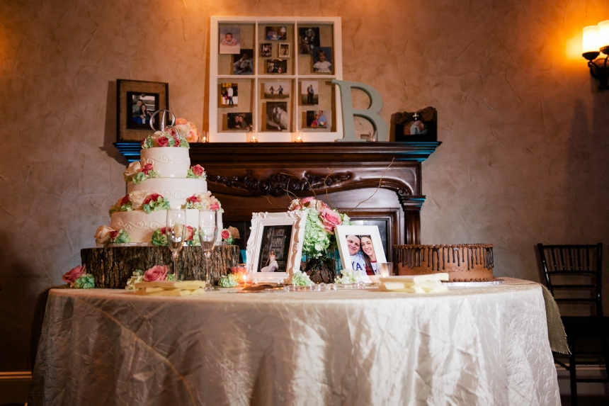 Cake Table and Fireplace Mantle