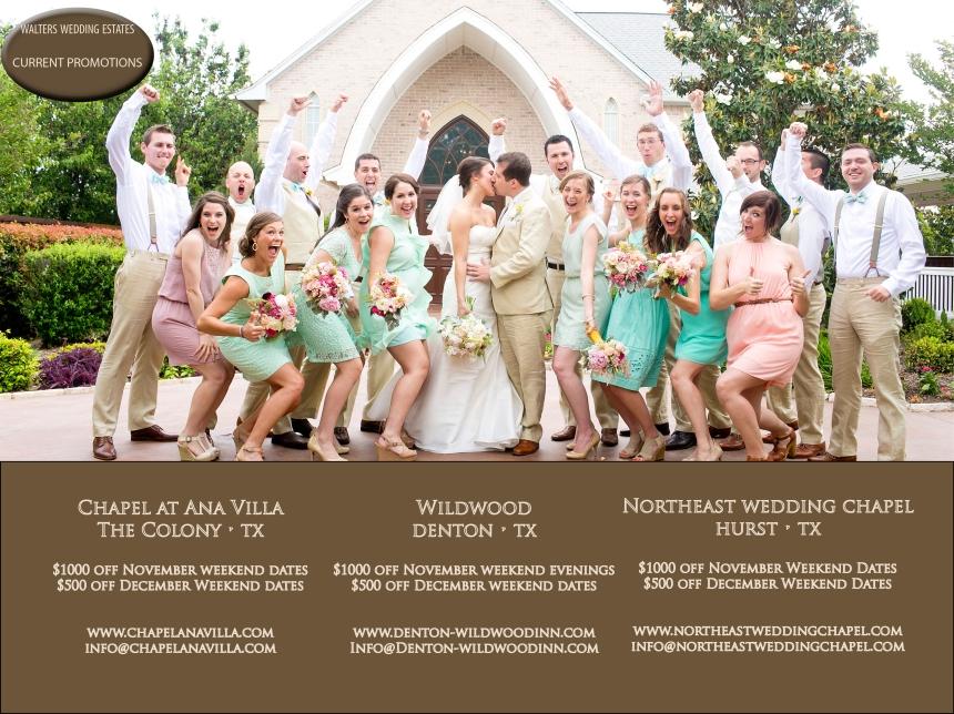 Walters Wedding Estates Last Minute Specials