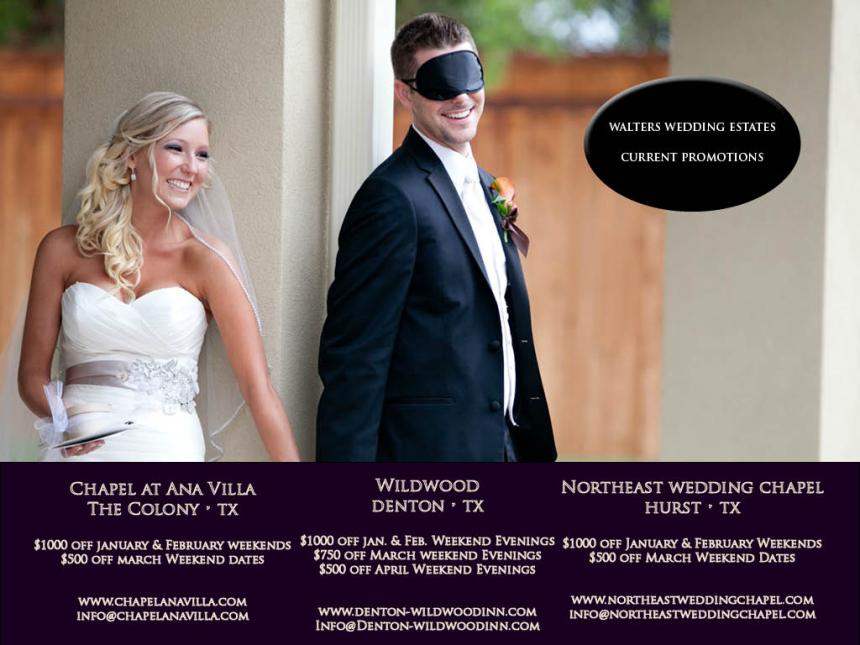 Walters Wedding Estates Current Promotions