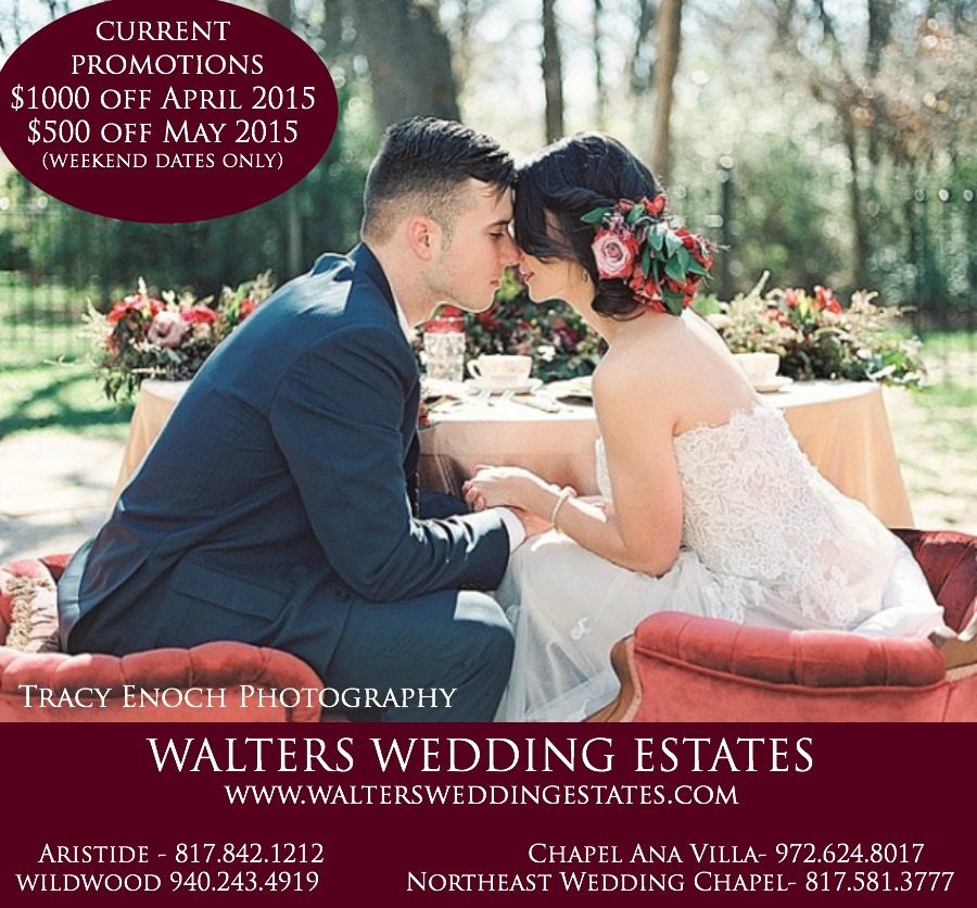 Walters Wedding Estates Current Promotions Spring 2015