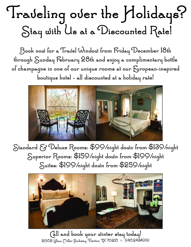 WWI Rooms Discount 2015