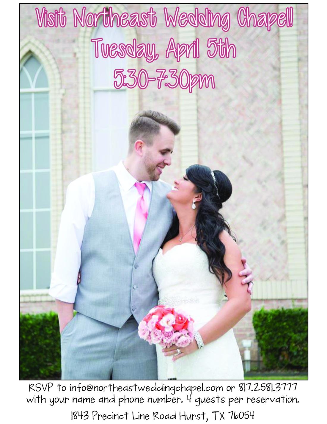 Northeast Wedding Chapel Open House Walters Wedding